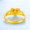 GOLD DRAGON 金龙珠宝 黄金戒指女士 爱心钻戒足金活口心形戒指 约4.10-4.15克    GR097D
