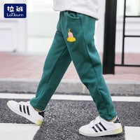 La'Bourn 拉班 男童加绒运动裤