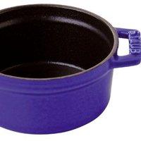 STAUB 珐琅铸铁锅 Cocotte/casserole lid (24 cm, 3.8 L, 适用于电磁炉, 哑光黑珐琅内壁) 圆形 深蓝色
