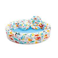 INTEX 儿童充气游泳池 送充气脚泵+修补包