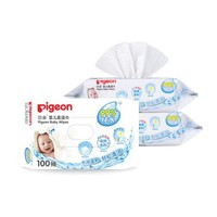 pigeon 贝亲 婴儿湿纸巾 100片 3包 PL346