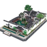京东PLUS会员 : 乐立方立体拼图 3D拼图积木 苏州园林 MC166h