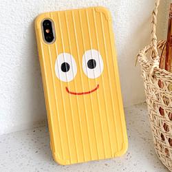 可爱笑脸手机壳苹果7plus超薄裸机手感iPhonex个性潮牌七mo磨砂软壳xs max全包防摔 全包边了6plus透气散热女