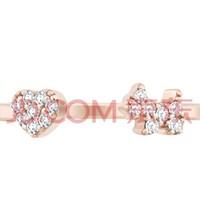 AGATHA 925银爱心小狗开口戒指 优雅浪漫女士饰品 玫瑰金    222008C