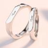 DAILUOQI 黛洛奇 情侣戒指s925纯银素戒指一对男女简约气质活口对戒  你的名字活口对戒     LJ116