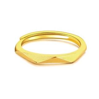 CHJ 潮宏基 层次 足金黄金戒指女款  约3g    SRG30001143YXXXX0300