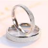VIGG 食指戒指女纯银一对简约潮人学生情侣对戒男士个性刻字 情侣款一对