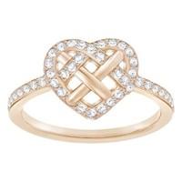 SWAROVSKI 施华洛世奇 镀玫瑰金女款心形55号 GREETING 戒指女 时尚饰品     5345512