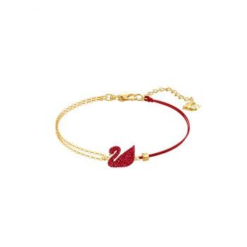 SWAROVSKI 施华洛世奇 红色天鹅手镯手链女 女友礼物 镀金色 5465403