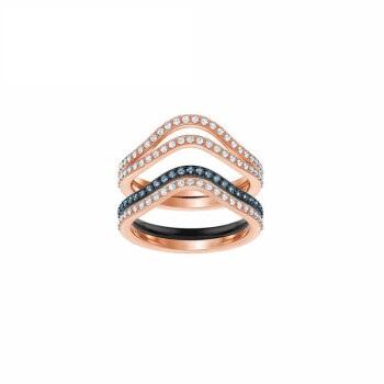 SWAROVSKI 施华洛世奇 LEMON 戒指套装女士时尚优雅戒指  蓝色 女友礼物 58号 5409188