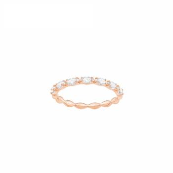 SWAROVSKI/施华洛世奇 VITTORE 戒指 经典闪亮 女友礼物 镀玫瑰金色 52号 5366583