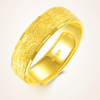 OYshipin 欧颜 999黄金戒指女足金情侣戒指一对男女黄金开口对戒结婚戒饰品 磨砂情侣戒指一对/重约6.91g   HJJ0316