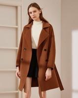 伊芙丽 中长款宽松双面呢大衣