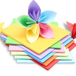 积米 大尺寸儿童手工剪纸彩色折纸100张