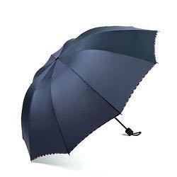 昵迪 八骨手动雨伞 98CM 黑/蓝款可选