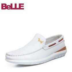 Belle/百丽夏新款商场同款牛皮男休闲乐福鞋5RK02BM8