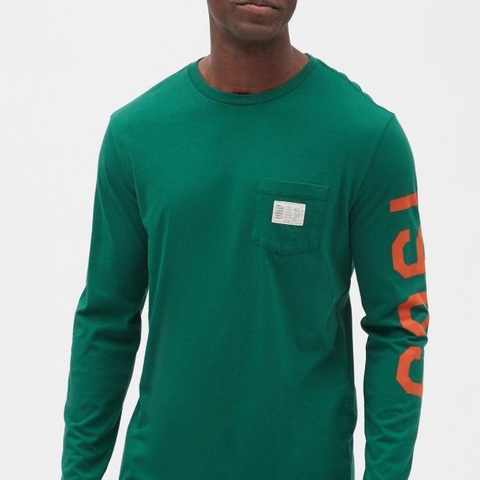 19号:Gap 盖璞 499620 男士棉质圆领长袖T恤