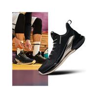 ANTA安踏男鞋实战训练篮球鞋秋季新品汤普森战靴KT4低帮减震耐磨防滑运动鞋 黑/香槟色-1 8(男41)