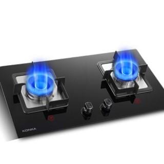 KONKA 康佳 JZY-B455F  台式嵌入式两用燃气灶 黑 液化气