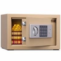 deli 得力 16654 家用小型指纹密码双保险保管柜