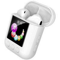 Newsmy 纽曼 Q7 带屏真无线蓝牙耳机 一体式MP3 收音机 怀表 阅读器 多合一