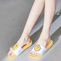 萱宜阁 小黄鸭情侣防滑拖鞋