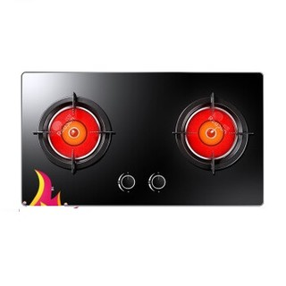 Redsun 红日 EH01CB 双灶天然气灶 黑色