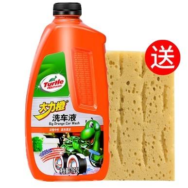 Turtle Wax 龟牌 大力橙 洗车液 1.25L +洗车海绵2件套