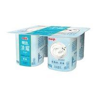 限京津冀山东:明治 meiji 清耀低脂肪酸奶 原味 100g*4 风味酸乳酸奶酸牛奶 *30件