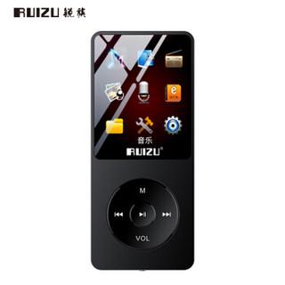 锐族(RUIZU)X02 16G 黑色 运动MP3/MP4音乐播放器迷你学生随身听便携式电子书英语听力插卡录音