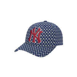 【直营】【吴宣仪同款】 MLB MONOGRAM系列可调节棒球帽 NY夏季时尚硬顶弯檐帽-32CPFB911