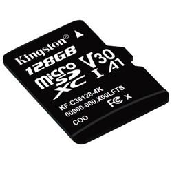 金士顿(Kingston)128GB TF(MicroSD)存储卡U3 C10 A1 V30 4K 高速PLUS版 读速100MB/s 高品质拍摄