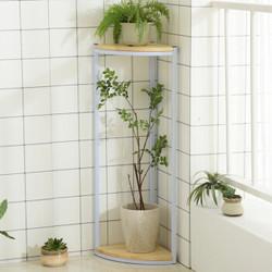 家逸钢木花架多层室内多功能多肉绿萝架子阳台铁艺装饰架置物架