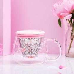 THERMOS 膳魔师 朱一龙同款芍药花系列保温杯玻璃杯神秘花园主题款套装 花茶杯