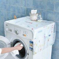 冰箱防尘罩洗衣机防尘收纳袋冰柜盖巾家用防水单开门双开门防尘罩 几何图形 128*54cm