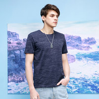 MagicPower 男装夏季新款立体裁剪短袖T恤 MJS02671  深蓝色 M *3件