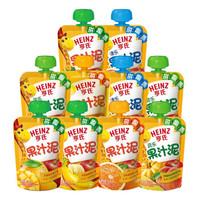 Heinz 亨氏 儿童辅食水果泥 混合口味 10袋组合