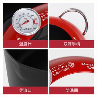 炊大皇 汤锅 天妇罗油炸锅家用双耳可测温度20CM燃气电磁炉通用