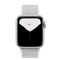 Apple 苹果 Watch Nike Series 5 智能手表 (44 mm、银色铝金属表壳、雪峰白色Nike 回环式运动表带、GPS + 蜂窝网络)