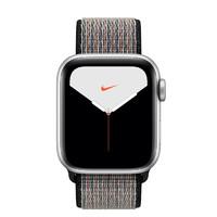 Apple 苹果 Watch Nike Series 5 智能手表 (44 mm、银色铝金属表壳、心动蓝配岩浆色Nike 回环式运动表带、GPS)