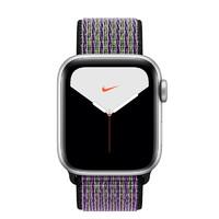 Apple 苹果 Watch Nike Series 5 智能手表 (44 mm、银色铝金属表壳、沙丘色配荧光黄色Nike 回环式运动表带、GPS)