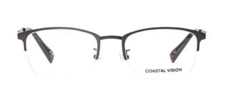 Coastal Vision 镜宴 CVO3105半框镜架+依视路 钻晶A4 1.60镜片