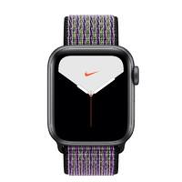 Apple 苹果 Watch Nike Series 5 智能手表 (44 mm、深空灰色铝金属表壳、沙丘色配荧光黄色Nike 回环式运动表带、GPS)