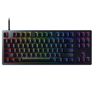 RAZER 雷蛇 猎魂光蛛竞技版 87键 有线机械键盘 黑色 雷蛇红轴(线性光轴)RGB