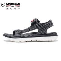 诺诗兰19新款女户外旅游沙滩鞋平底防滑运动时尚舒适凉鞋FS082005