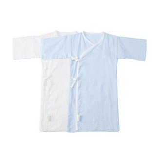 Purcotton 全棉时代  婴儿纱布连体服 长款 2件装  *2件