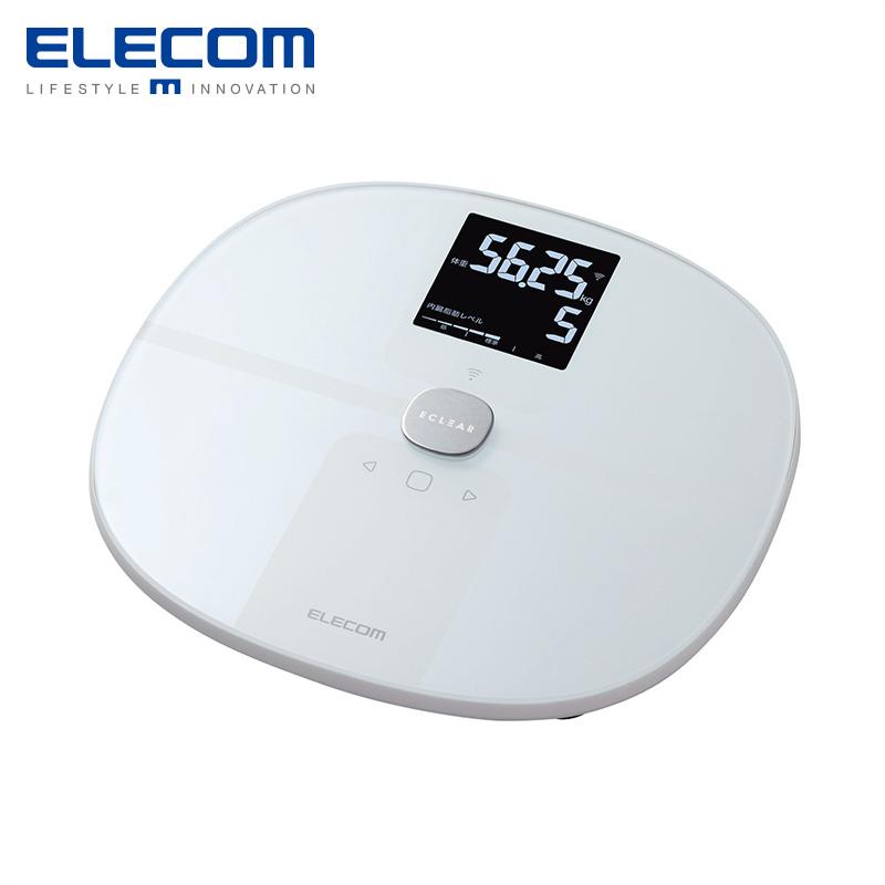 ELECOM 宜丽客 HCS-WFS01 体脂秤 (白色)