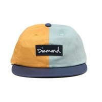 DIAMOND SUPPLY CO. Logo 缝饰拼色棒球帽