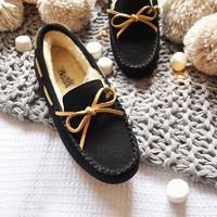 DK Sheepskin UGG DK201H 女士加绒豆豆鞋 *2件