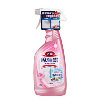 花王(KAO)魔术灵浴室清洗剂防霉除菌清洁剂 卫生间玻璃不锈钢除垢去水垢水渍玫瑰香500ml *2件